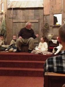 Grandpa telling the story